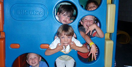 kids having fun at Friday Fun Night